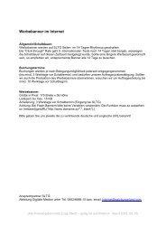 Werbebanner im Internet - SalzburgerLand Netoffice