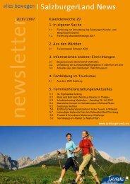 Nummer 29/2007 - SalzburgerLand Netoffice