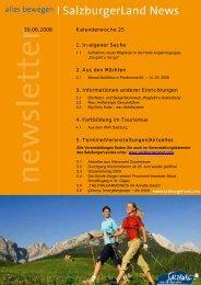 Nummer 25/2008 - SalzburgerLand Netoffice
