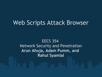 Presentation slides - Network Penetration and Security