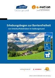 Erhebungsbogen zur Barrierefreiheit - SalzburgerLand Netoffice
