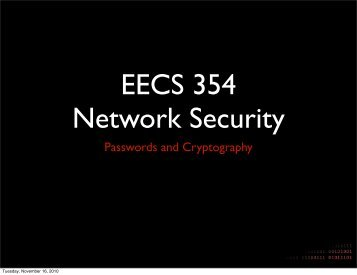 Passwords and Cryptography - Network Penetration and Security