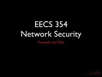 Firewalls and IDSs - Network Penetration and Security
