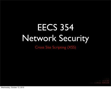 XSS - Network Penetration and Security