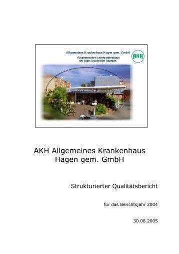 strukturierter Qualitätsbericht 2004