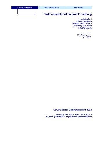 strukturierter Qualitätsbericht 2004 - DIAKO Flensburg