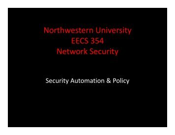 Policy - Network Penetration and Security - Northwestern University