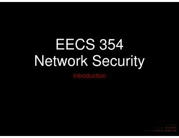 EECS 354 Network Security - Network Penetration and Security