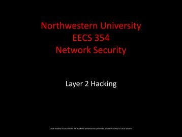 VLANs - Network Penetration and Security - Northwestern University