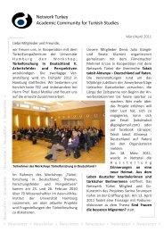 Network Turkey Academic Community for Turkish Studies