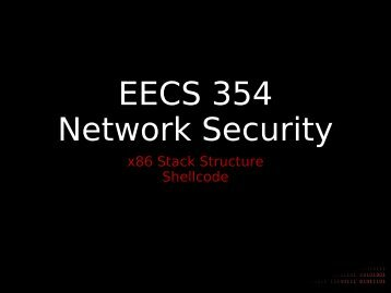x86 Stack Structure Shellcode - Network Penetration and Security