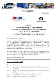 Newsletter -- Januar 2010 - Network Turkey