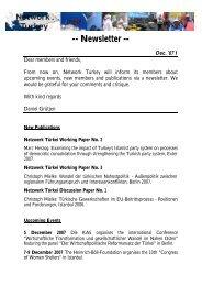 Newsletter Dec 1 English - Network Turkey