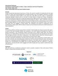 Program Contemporary Turkish Studies - Network Turkey