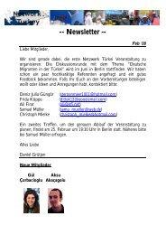 Newsletter Feb Deutsch - Network Turkey