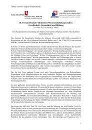 II. Forum Deutsch-Türkischer ... - Network Turkey