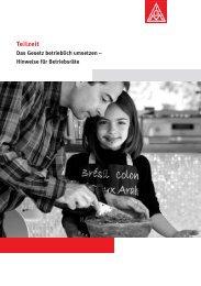 Broschüre: Teilzeit - IG Metall Netzwerk Chancengleichheit