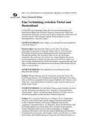 Eine Verbindung zwischen Türkei und Deutschland - Network Turkey