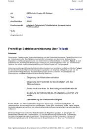 Daimler: BV Teilzeit