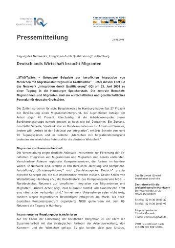 Deutschlands Wirtschaft braucht Migranten - Netzwerk Integration ...
