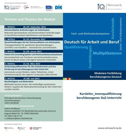 Flyer NRW - Netzwerk Integration durch Qualifizierung (IQ)