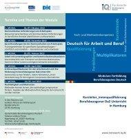Flyer Hamburg - Netzwerk Integration durch Qualifizierung (IQ)