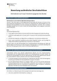 Checkliste Anerkennung - IQ Netzwerk Berlin