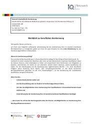 Deutsch-Merkblatt berufl. Anerkennung m - IQ Netzwerk Berlin