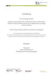 """Fortbildung """"Den Dschungel lichten"""" - Netzwerk Integration durch ..."""