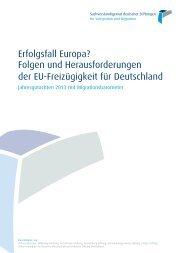 Folgen und Herausforderungen der EU-Freizügigkeit für Deutschland