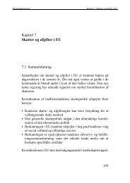 Kapitel 7 - Skatter og afgifter i EU