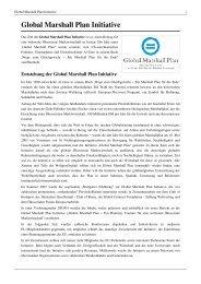 Global Marshall Plan Initiative - netzwerkvonchristen - Wikispaces