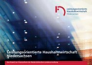 Leistungsorientierte Haushaltswirtschaft Niedersachsen