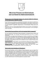 Fragen zur Einführung der getrennten Abwassergebühr - Gemeinde ...