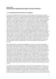 1 Kommunale Integrationskonzepte auf dem Prüfstand