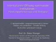 Interkulturelle Öffnung kommunaler Institutionen –