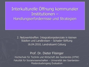 Interkulturelle Öffnung kommunaler Institutionen –