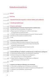 Inhaltsverzeichnis - Integrationspotenziale