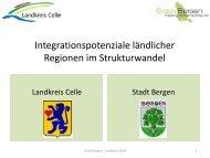 Vorstellung Landkreis Celle und Stadt Bergen - Integrationspotenziale