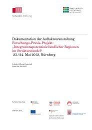 Dokumentation der Auftaktveranstaltung - Integrationspotenziale
