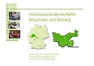 Hochsauerlandkreis mit Meschede und Bestwig