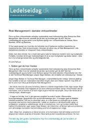 Risk Management i danske virksomheder