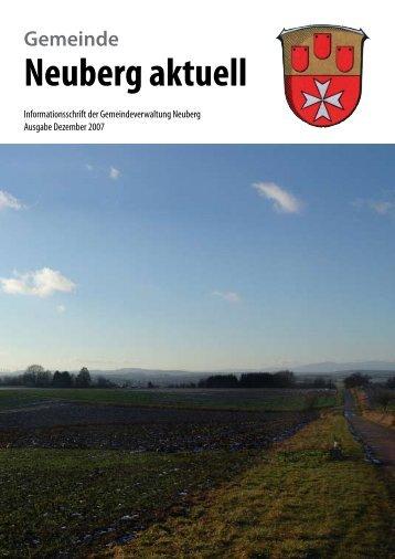 NEUBERG aktuell, Ausgabe 12/2007 - Gemeinde Neuberg