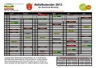 Abfallkalender 2013 - Gemeinde Neuberg