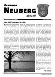 Liebe Mitbürgerinnen und Mitbürger! - Gemeinde Neuberg
