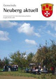 NEUBERG aktuell, Ausgabe 10/2008 - Gemeinde Neuberg