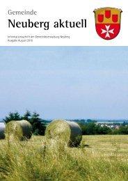 NEUBERG aktuell, Ausgabe 08/2010 - Gemeinde Neuberg