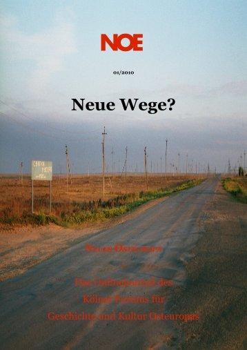 Nr. 1 ? Ausgabe 01/10 - Neues Osteuropa