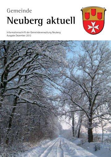 NEUBERG aktuell, Ausgabe 12/2012 - Gemeinde Neuberg