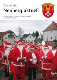 NEUBERG aktuell, Ausgabe 12/2009 - Gemeinde Neuberg
